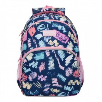 Рюкзак школьный эргоном.спинка grizzly rg-060 40*27*20 дев зиг-заги, синий