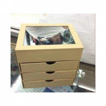Комодик с 3-мя ящиками и зеркалом, картон,
