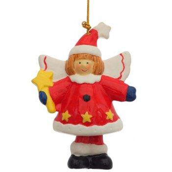 Новогоднее украшение ангел, снеговик, 8,2х4,4х8,2 см , 2...