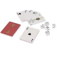 Карты для покера vegas, красная рубашка, игральные кости