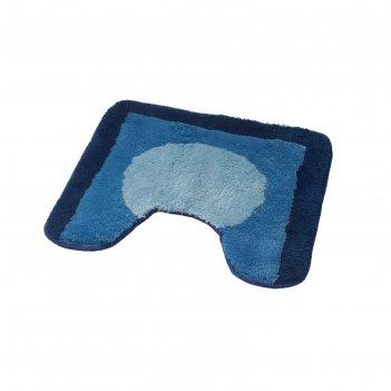 Коврик для ванной комнаты macau, синий/голубой, 50x50 см