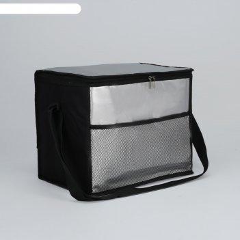 Сумка-термо, отдел на молнии, наружный карман, регулируемый ремень, цвет ч