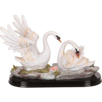 Фигурка влюбленная пара лебедей высота=17 см. длина=25 см. (кор=6шт.)