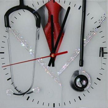 Картина сваровски - часы доктор