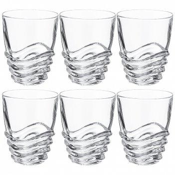 Набор стаканов для виски из 6 шт. wave 280 мл. высота=11см.