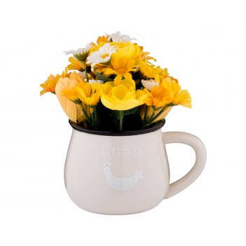 Изделие декоративное цветы 13*8 см. высота 15 см. (кор=48шт.)