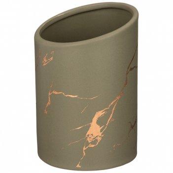 Подставка для столовых приборов коллекция золотой мрамор цвет: gray 10,8*1