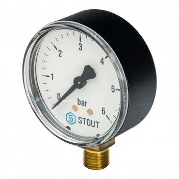 Манометр stout sim-0010-630608, радиальный, dn63, g1/4