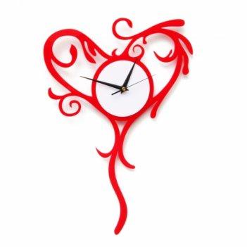 Часы в форме сердца кружевное сердце cl103 27х44см