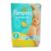 Подгузники «pampers» new baby-dry, mini, 3-6кг, 17 шт/уп