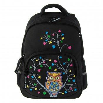 Рюкзак школьный эргономичная спинка 40 х 30 х 16 см bruno visconti «сова»,