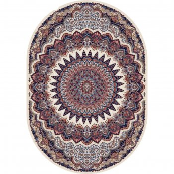 Овальный ковёр shahreza d417, 200 х 400 см, цвет cream-navy