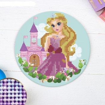Алмазная мозаика для детей принцесса в замке,18 см