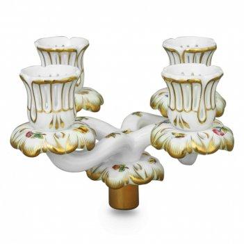 Подсвечник со вставкой на 4 свечи, размер: 13,5 х 13,5 х 14,5 см, материал