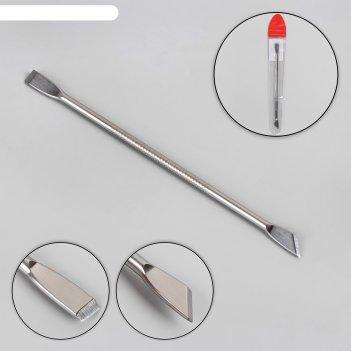 Шабер двусторонний, лопатка прямая, 12 см, цвет серебристый