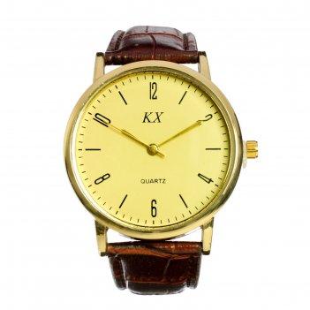 Часы наручные мужские kx -  классика d=3.8 см, микс