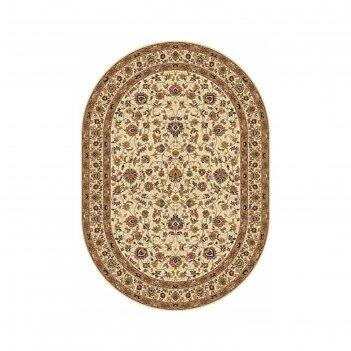 Овальный ковёр buhara 5471, 100 х 300 см, цвет cream
