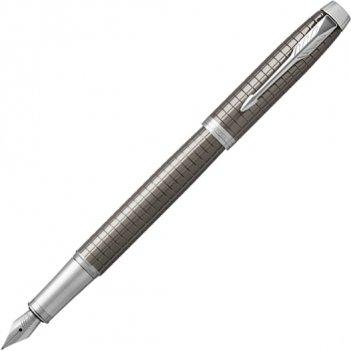 Ручка перьевая parker im premium dark espresso chiselled ct