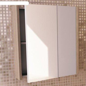 Зеркало-шкаф для ванной тулуза-60 67 х 60 х 14 см, цвет сосна лоредо