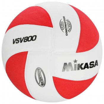 Мяч вол. mikasa vsv800 wr, р.5, синт.пена тпе, клеен,8 пан,бут.кам,бело-кр
