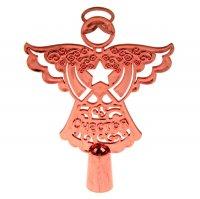 Верхушка на ёлку счастья (красный ангел)