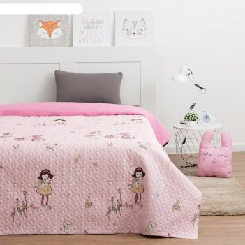Покрывало этель ультрастеп девочка цв.розовый, р-р 150*210±5 см