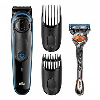 Триммер для бороды и усов braun bt3040, 7 вт, 2 насадки, от аккумулятора,