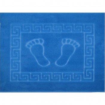 Коврик для ванной foot, 50 х 70 см, полипропилен, голубой