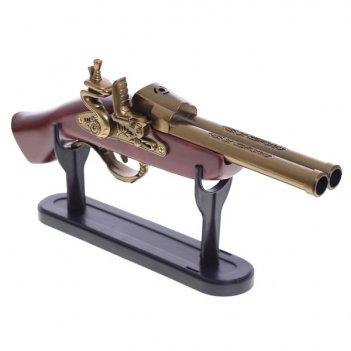Пистолет на подставке декоративный, 32x5x15см