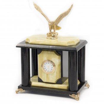 Часы орел бронза змеевик офиокальцит