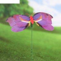 Декор садовый бабочка 3d, штекер 60 см, микс цвета