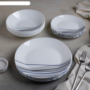 Сервиз столовый 18 предметов athenais blue