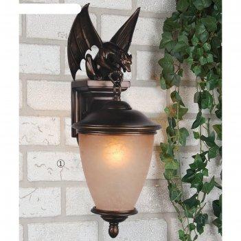 Светильник летучая мышь, e27, 60 вт, ip44, цвет коричневый