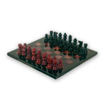 Шахматы из камня классические красное и черное