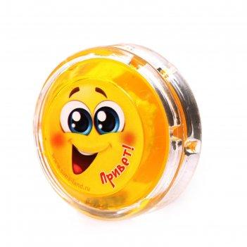 Йо-йо привет+ шарики внутри, d=4,7см цвета микс