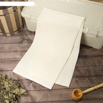 Полотенце вафельное банное 80х150 см, сливочный, хлопок 100%