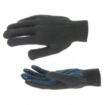 Перчатки утепленные, пвх покрытие, точка, 7 класс россия сибртех