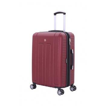 Чемодан wenger vaud бордовый, абс-пластик, 59 x 26,5 x 42 см, 66 л