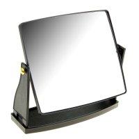 Зеркало настольное на подставке прямоугольник, цвет черный