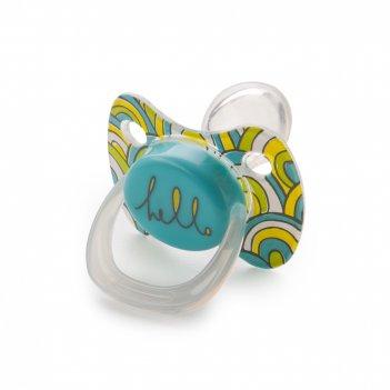 13011 blue силиконовая соска-пустышка ортодонт.формы с колпачком baby paci