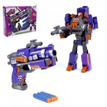 Робот - трансформер бластер, трансформируется в робота, стреляет мягкими п