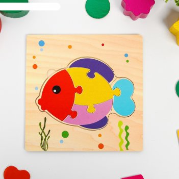 Игрушка развивающая пазл рыбка 0,3х15х15 см