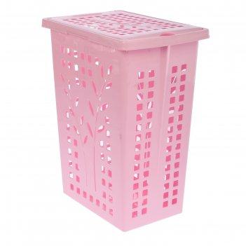 Корзина для белья 30 л, цвет розовый