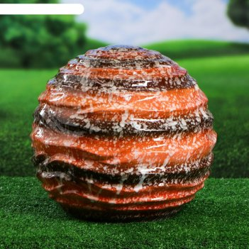 Садовый декор шар, волнистый, цвет коричневый, 33 см, микс