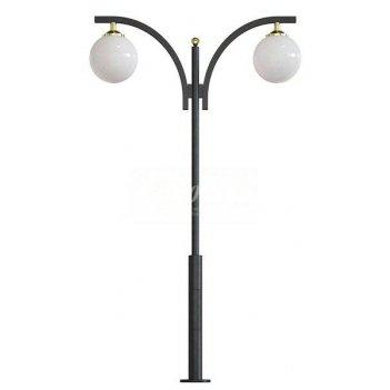 Стальной фонарный столб т-15-2 со светильником