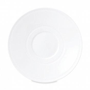 Блюдце для чайной чашки инталия, диаметр: 19 см, материал: костяной фарфор