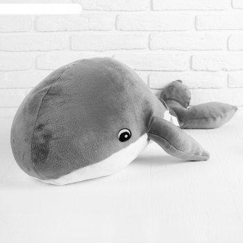 Мягкая игрушка кит, цвет серый, 95х75