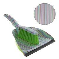 Набор для уборки: совок и щетка полоски