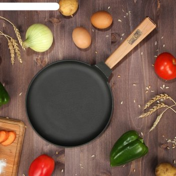 Сковорода блинная чугунная оптима, brizoll, 22 х 1,5 см