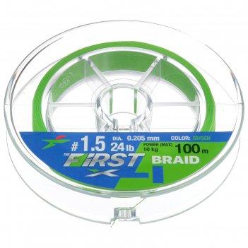 Леска плет. intech first braid pe x4 0.205 мм, 100м